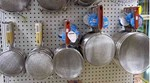Stainless steel strainers, various sizes available