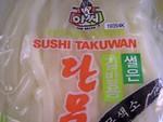 Assi brand sushi takuwan (white pickled daikon radish, sliced)