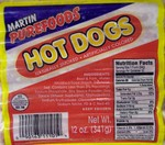Martin Purefoods Hot Dogs