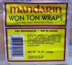 Mandarin Won Ton Wraps
