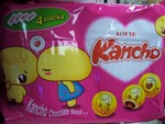 Lotte brand Kancho Snack cookie (4pk)