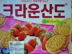 Crown brand Strawberry Sandwich Cookie