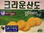 Crown brand Green Tea Sandwich Cookie