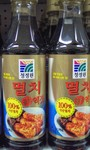Chung Jong Won brand Salted Anchovy sauce   (This sauce has become very popular with the local kimchi makers)