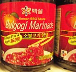 CJ Foods brand Bulgogi marinade   (CJ Foods is claimed to be the largest and most popular sauce makers in Korea. Joe uses this sauce more regularly than any other sauce in the store...)