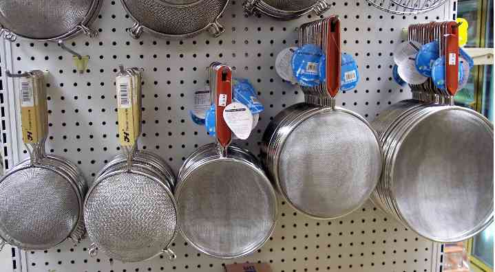 stainless strainers