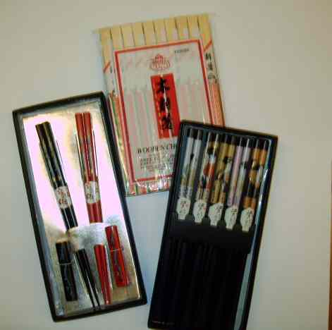 variety of chopsticks